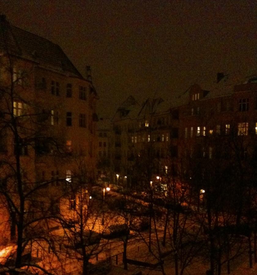Berlin abends im Winter