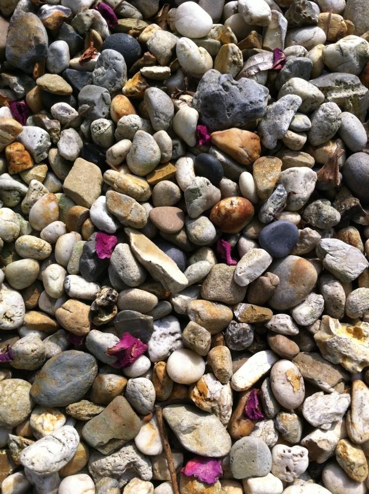 Kieselsteine im Sommer