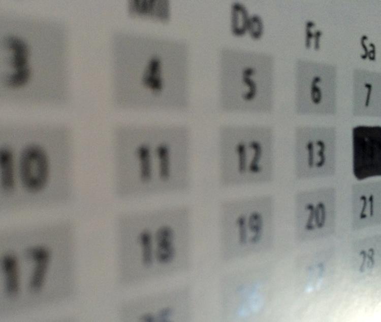 Kalenderblatt // Jahrestage