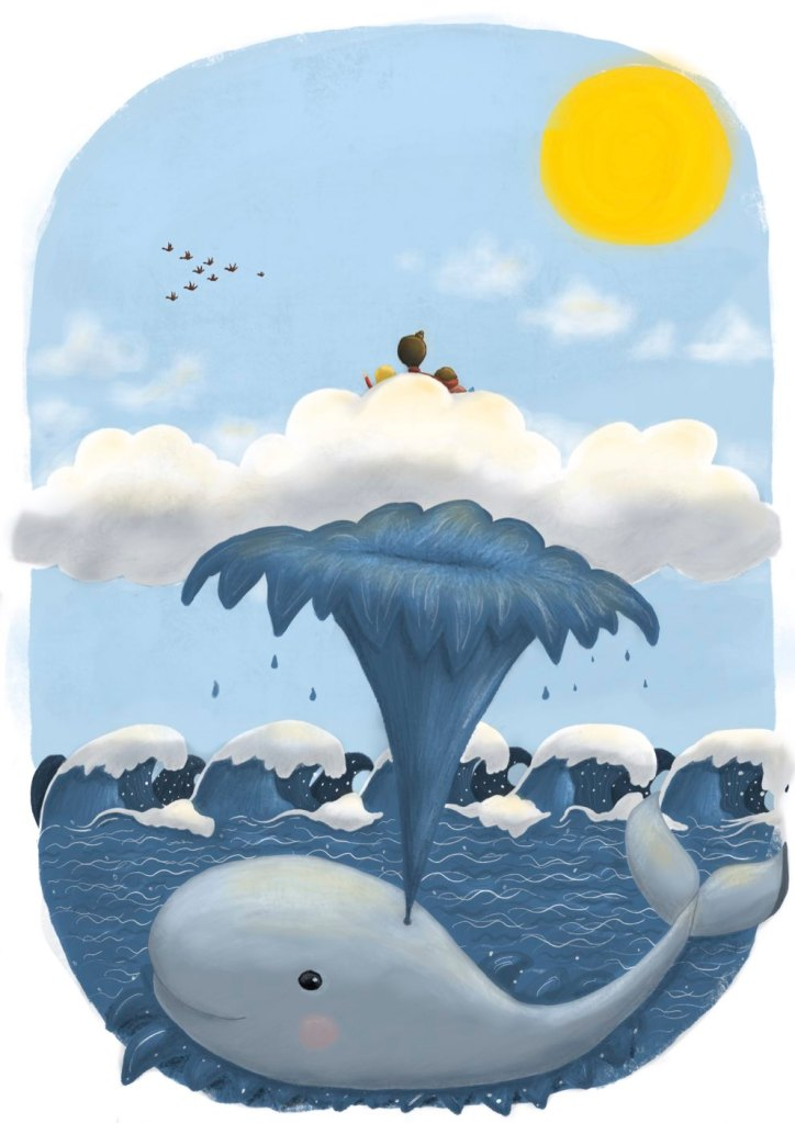 """Illustration from the picture book """"Spielplatz im Meer / Playground in the sea"""", Illustrated and written by Kat Ess, 2019"""