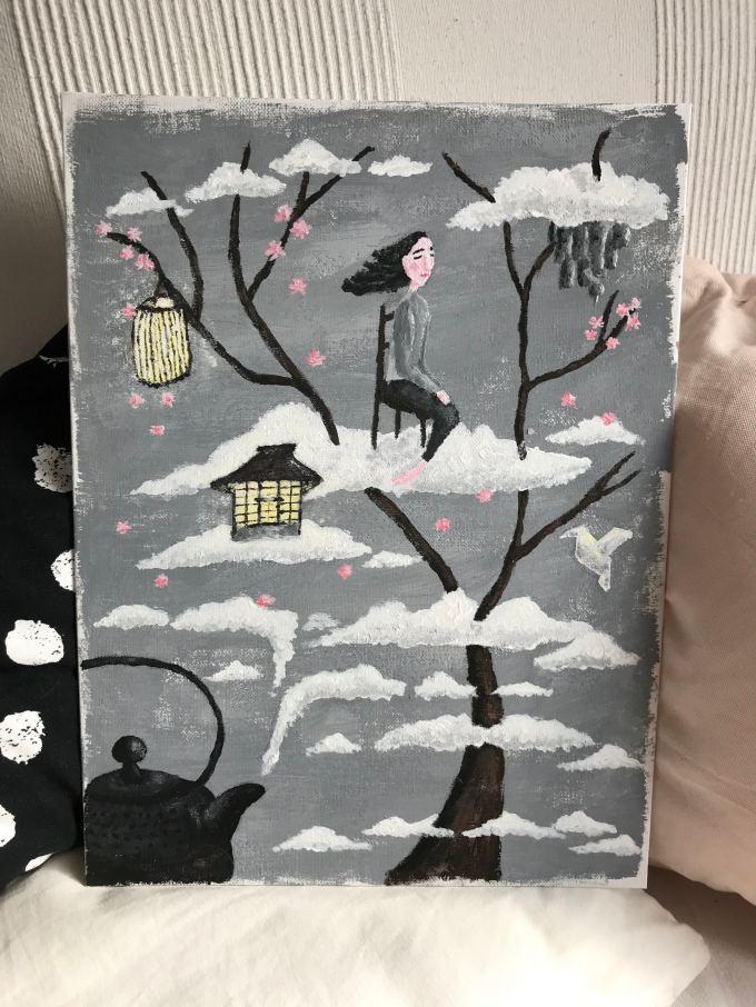 Wabi Sabi Painting Gemälde Kathrin Kat Ess 2019